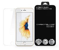 iPhone 7/6/6S Plus Screen Protector - SCREENDER BLACK CARBONGLASS - Scratch Proof - Ultra Clear - High Definition - Easy to Install - 90 Days LCD Screen Replacement Guarantee -- You can find out more details at the link of the image. (This is an affiliate link)