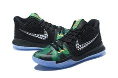 65bc4f9bde4ab4 2017 Cheap Kyrie 3 Halloween Shamrock Black Green Basketball Shoes on  www.ebuywholesale.com