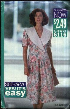 Butterick Sewing Pattern 6116 B6116 Misses Size 18-22 Easy Top Full Gathered Skirt 2 Piece Dress   Butterick+Sewing+Pattern+6116+B6116+Misses+Size+18-22+Easy+Top+Full+Gathered+Skirt+2+Piece+Dress