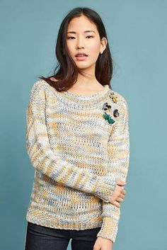 Marled Boat Neck Sweater