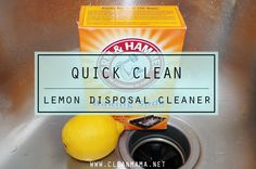 Freshen up your disposal with this two ingredient wonder. Works like a charm!