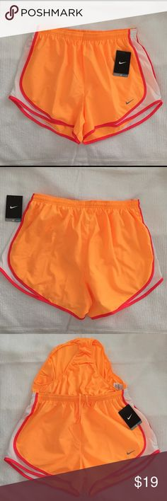 New Nike Dri-fit tempo Large running shorts New Women's Nike Dri-fit tempo Large running shorts   Size: large  Style: 624278  Color: 807   Materials:  100% polyester   Measurements:  Waist: 15in  Hips:20in  Inseam: 13in  Length: 11in Nike Shorts