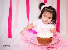 Aug 2019 - A baby is eating her birthday's cake. Little Babies, Cute Babies, One Year Old Baby, Baby Eating, Birthday Photography, Eat Cake, Pink Dress, Birthdays, Birthday Cake