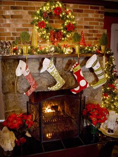 Colorful Creations - 20 Glowing Holiday Mantels on HGTV