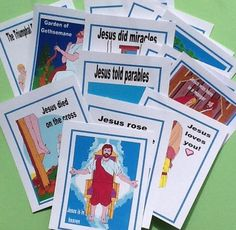 Life of Jesus Cards Printables