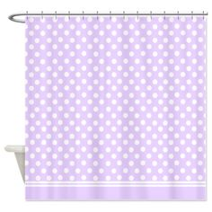 Purple lilac polka dots Shower Curtain on CafePress.com
