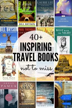 Check this ultimate Traveler´s reading list with 40 wanderlust books hard to put down, including world classics, iconic travel memoirs, and modern bestsellers. Best Travel Books, Travel Movies, Fun Travel, Travel Stuff, Travel Advice, Travel Guides, Travel Tips, Wanderlust Book, Virtual Travel