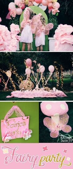 This fairy party cost less than $100 to create. There are lots of CREATIVE and AFFORDABLE do-it-yourself projects that can easily be recreated to make your own fairy party on a budget!! /designdazzle/