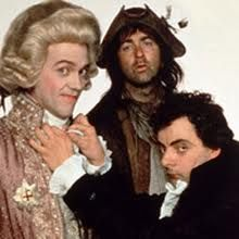 Blackadder is the name that encompassed four series of a BBC 1 period British sitcom, along with several one-off instalments. All television episodes starred Rowan Atkinson as anti-hero Edmund Blackadder and Tony Robinson as Blackadder's dogsbody, Baldrick. Each series was set in a different historical period with the two protagonists accompanied by different characters, though several reappear in one series or another, for example Melchett and Lord Flashheart