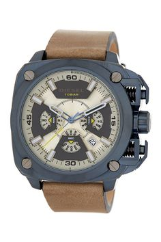 Men's BAMF Leather Strap Watch