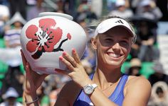 Wozniacki's 1st title of 2012. Watch out Rory!!!