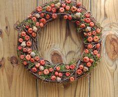 Fall Wreath Mini Pumpkins