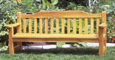 Ah! E se falando em madeira...: Banco para jardim
