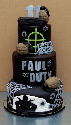 Beautiful Video Games Cakes Call of Duty