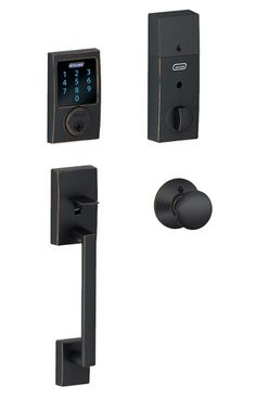 View the Schlage FE469NX-CEN-PLY Connect Century Touchscreen Handleset with Plymouth Knob and Built-in Alarm at Handlesets.com.