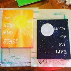 My sun and stars moon of my life quotes canvas by LoveCustomCanvas