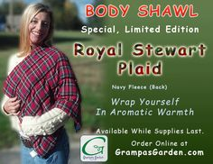 Our Most Popular Therapy Pack! Grampa's Garden Body Shawl is now available in a limited edition Royal Stewart Plaid fabric! Get Yours At: http://www.grampasgarden.com/hot-cold-natural-therapy-pacs/body-shawl-royal-stewart-limited.html  #gift #holiday #october #hotpack #shawl #royalstewart