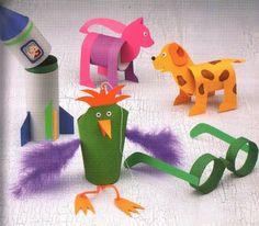 Artes da Catis: Reciclando rolos de papel higiênico