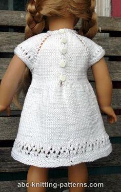 ABC Knitting Patterns - American Girl Doll Midsummer Dress