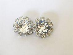 Oscar Jewelry Mid century Austrian crystal earrings. Brilliant! $34.00