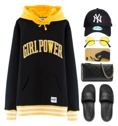 """""""Oh."""" by mikaylaperrine ❤ liked on Polyvore featuring Puma and Gucci"""