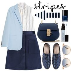 One Direction: Striped Shirts by alaria on Polyvore featuring мода, J.W. Anderson, Acne Studios, ADAM, Mollini, Chloé, Oliver Peoples, Laura Mercier and stripes