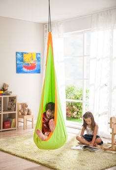 hammock chair. So much fun for playrooms! available at www.hooplaroom.com