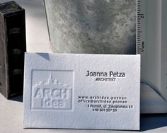 Business Card for: Archidea | The Best of Business Card Design