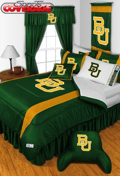 YES. #SoMuchSicEm // #Baylor Bears 4-Piece Twin, Full, Queen, King Bedding Set