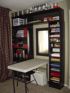 excellent way to have a craft area in a small space....