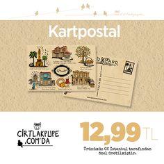 Gevrek ve boyoz kokusu, saat kulesinin dokusu...  Hepsi ve daha fazlası Cirtlakpupe kartpostallarında  :)  http://www.cirtlakpupe.com/store/ProductDetails.aspx?productid=96291#.VA1m5MLV_A4