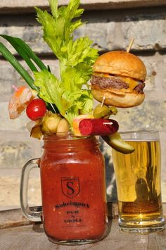 The most insane Bloody Mary I've ever seen! Yumm...