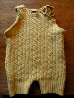 wool soaker overalls by reese mcg, via Flickr - genius recycle felted sweater for an infant.