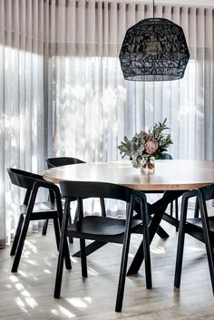 Want to know more about : black dining room table and chairs Table Design, Dining Room Design, Dining Room Furniture, Dining Room Table, Light Wood Dining Table, Black Round Table, Black Round Dining Table, Bar Furniture, Dining Area