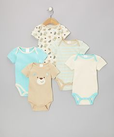 Take a look at this Tan Beary Cute Watch-Me-Grow Bodysuit Set on zulily today!