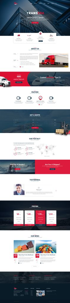 Transera is a clean and modern PSD Template for Transportation and Logistics business website. This theme includes 12 PSD files with many features. You can use Transera to introduce and advertise a...