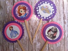 Sofia The First cupcake toppers Sofia the first birthday sofia the first party Sophia the first birthday on Etsy, $8.00