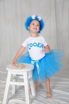 Cookie Monster Tutu Costume Toddler Size by jujustutus on Etsy, $54.99