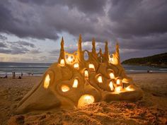 I wish I could build a sandcastle like this...