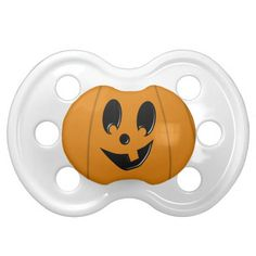 Silly Jack-O-Lantern Baby Halloween Pacifier http://www.zazzle.com/silly_jack_o_lantern_baby_halloween_pacifier-256475287054862948?rf=238312613581490875
