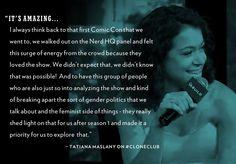 .@tatianamaslany on #CloneClub for @AOLBUILD - #OrphanBlack