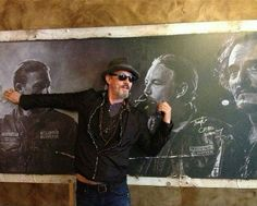 Coates, in the frame again! Sons Of Anarchy Motorcycles, Tommy Flanagan, Tommy Boy, Charlie Hunnam, Movies And Tv Shows, Movie Tv, Seasons, Actors, Fictional Characters