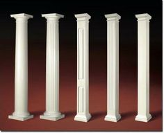 How to design porch with exterior porch columns for Decorative fiberglass columns