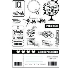 Tampons transparents 'Miss Créa - Tour du monde' Phileas A5
