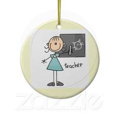 Teacher Stick Figure Ornaments