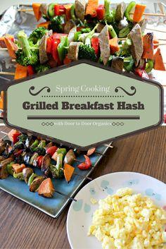 Bringing Breakfast Outside: Grilled Breakfast Hash Skewers — Lattes, Life & Luggage