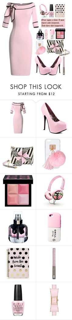 """""""26.03.17"""" by malenafashion27 ❤ liked on Polyvore featuring Viva Bordello, Betsey Johnson, Ashlyn'd, Givenchy, Yves Saint Laurent, Valfré, Boohoo, Urban Decay, OPI and Kate Spade"""