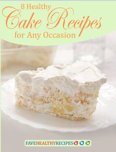 8 Healthy Cake Recipes for Any Occasion Free eCookbook | If you're a fan of healthy dessert recipes, you'll love these cakes. They're magical!