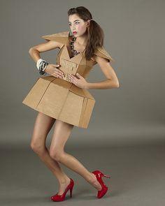 Cardboard Dress - JPG Photos