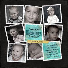 grandkids scrapbook layouts | blessings - Digital Scrapbook Place Gallery